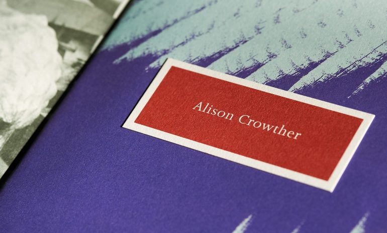 Alison Crowther Catalogue - closeup