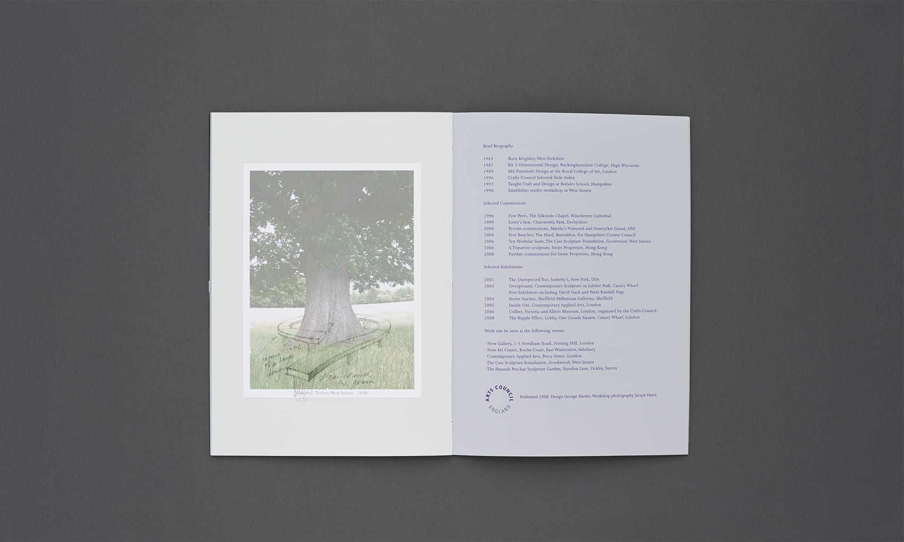 Alison Crowther Catalogue - overlay - tree bench 1