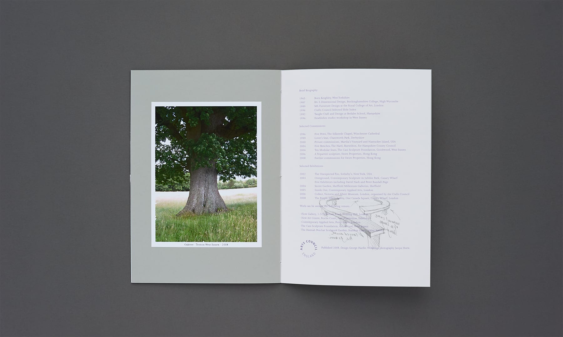 Alison Crowther Catalogue - overlay - tree bench 2
