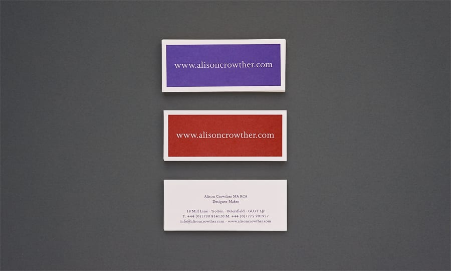 Alison Crowther Catalogue - Business Cards