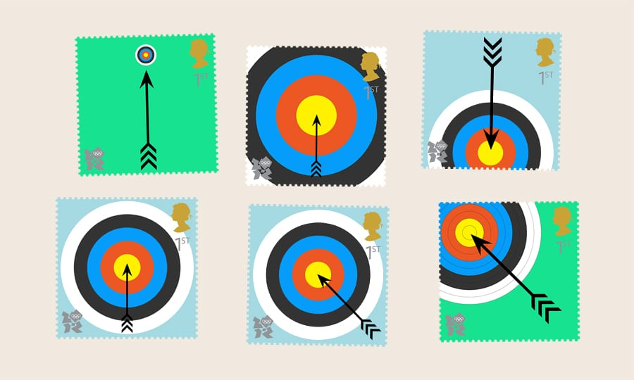 Royal Mail - Paralympic Archery stamp - sketches 1