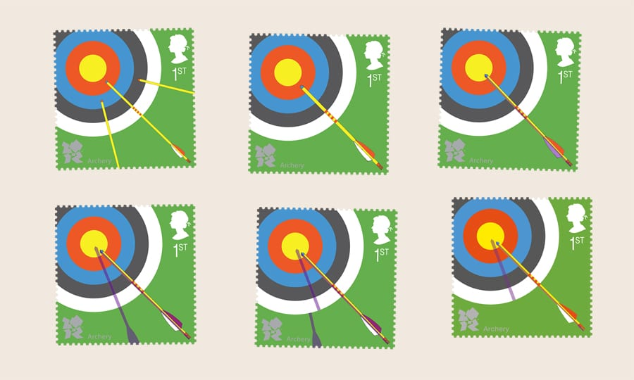 Royal Mail - Paralympic Archery stamp - sketches 2
