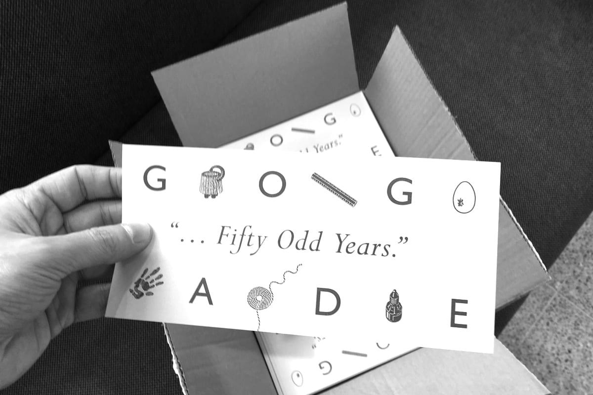 Fifty Odd Years - George Hardie - printed invitations arrive