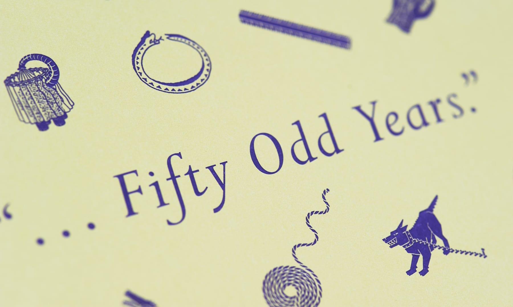 Fifty Odd Years - George Hardie - closeup