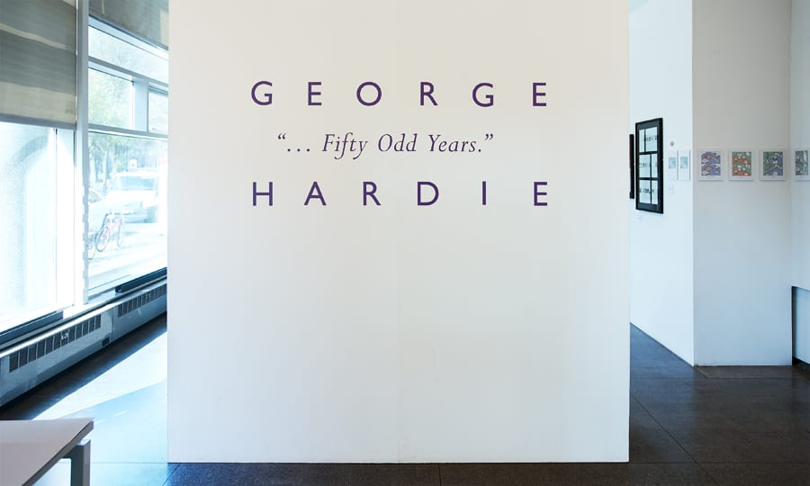 Fifty Odd Years - George Hardie - exhibition graphics
