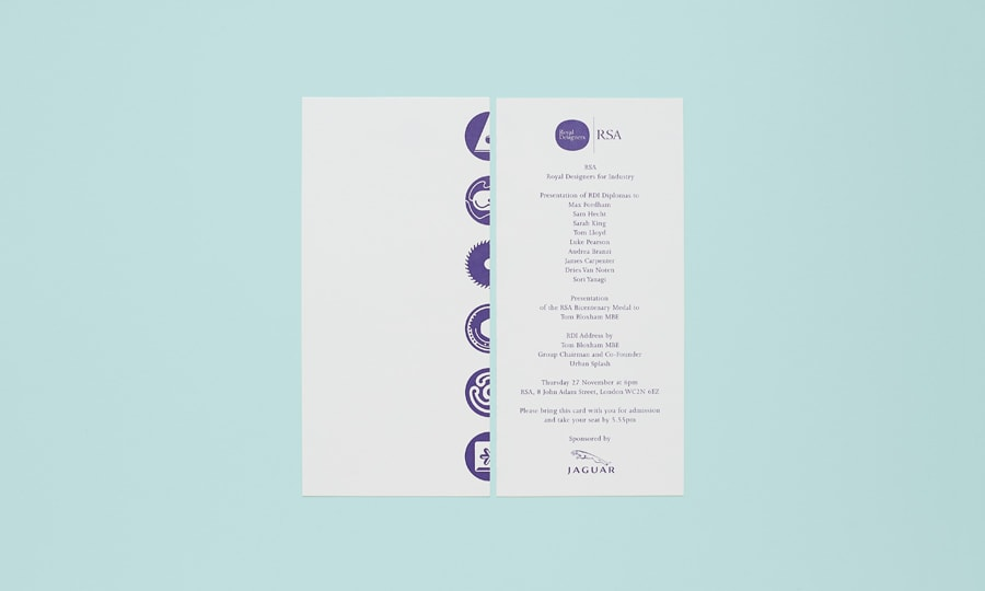 RDI Dinner Invite - front and back