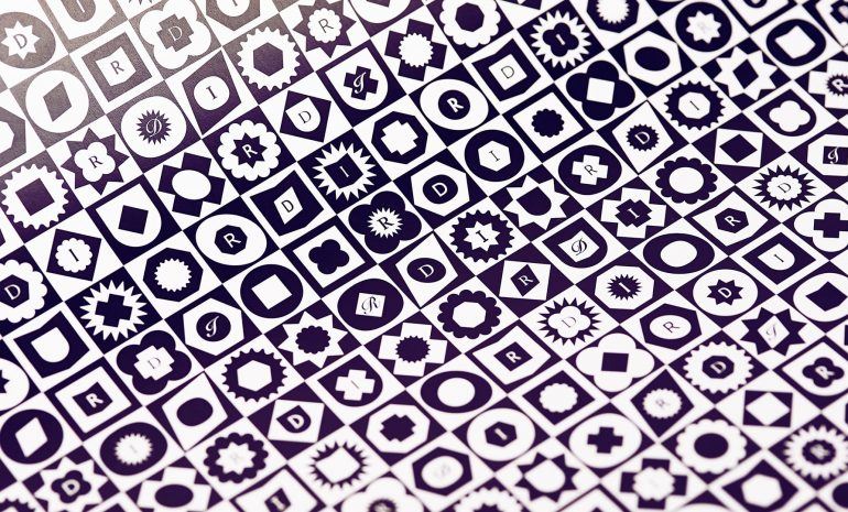 Royal Designers for Industry Pattern - closeup image