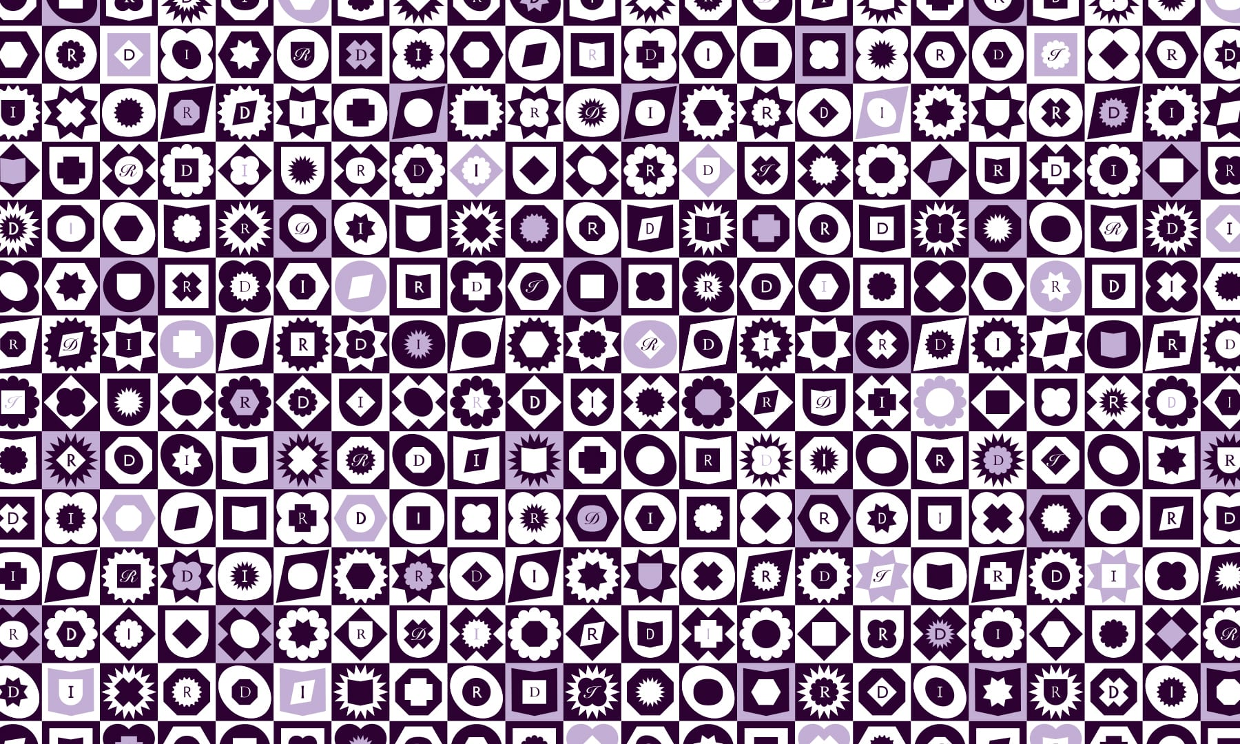 Royal Designers for Industry Pattern with spot colour